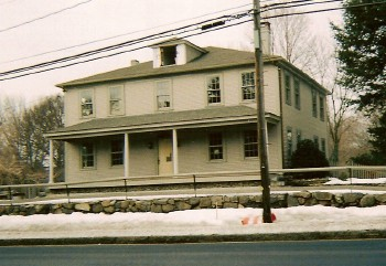 Clark's Tavern during restoration in 2005