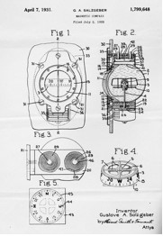 Salzgeber patent for magnetic compass