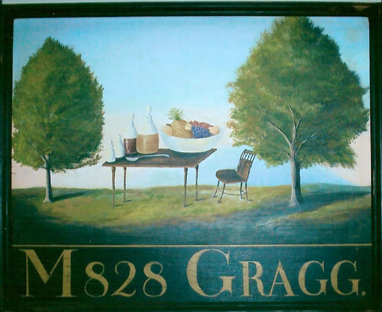 Moses Gragg Blue Hill Tavern Sign (reproduction)